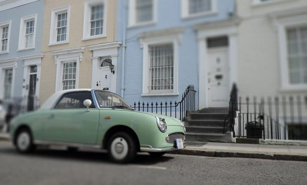 Notting Hill car and houses